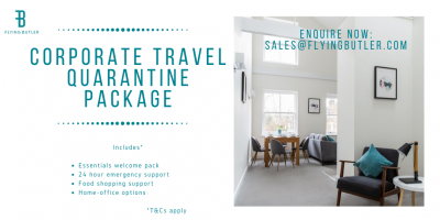 Corporate travel quarantine package